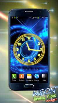 Neon Analog Clock Widget screenshot 5
