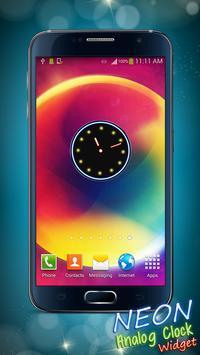 Neon Analog Clock Widget screenshot 3