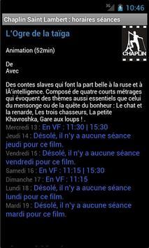 Chaplin Saint-Lambert horaires poster