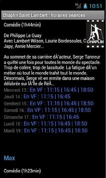 Chaplin Saint-Lambert horaires screenshot 1
