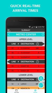 CitySlqr: DC Metro WMATA App screenshot 3