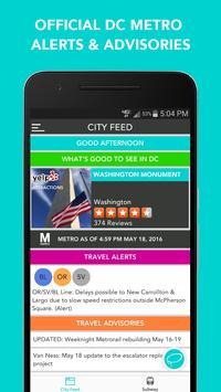 CitySlqr: DC Metro WMATA App poster