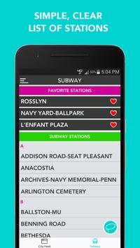 CitySlqr: DC Metro WMATA App screenshot 2