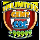 Unlimited COC GEMS : prank icon