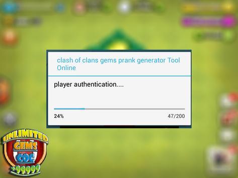 Unlimited COC GEMS : prank screenshot 2