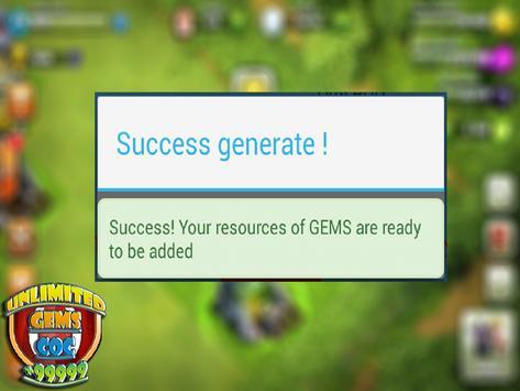 Unlimited COC GEMS : prank screenshot 5