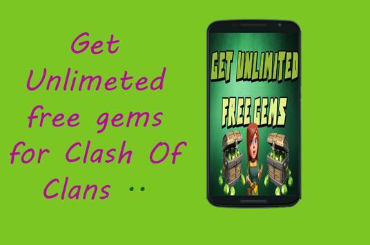 Gems sheet for Clash Prank poster