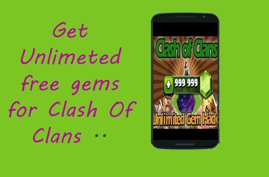 Gems sheet for Clash Prank screenshot 2