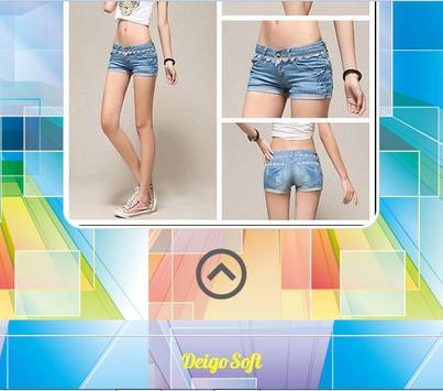 Design of Women Short Pants apk screenshot