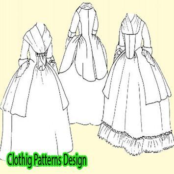 Clothig Patterns Design poster