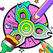 Fidget Spinner Coloring Book Games icon
