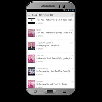 COME THRU - Jake Paul ft. Erika Costell & KingBach apk screenshot