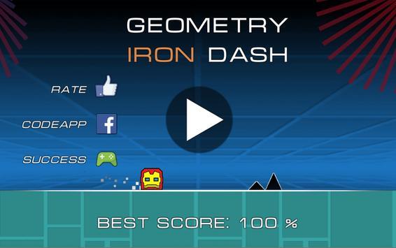 Geometry Iron Dash poster