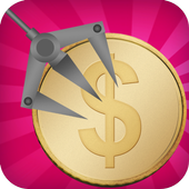 coins claw machine game icon