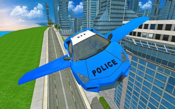Futuristic Police Flying Car Sim 3D screenshot 8