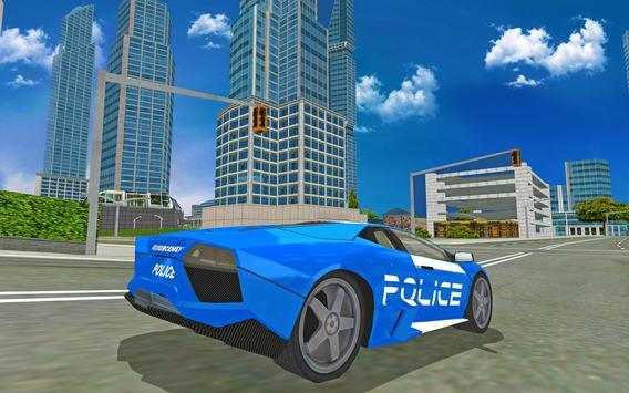 Futuristic Police Flying Car Sim 3D screenshot 11