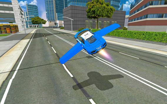 Futuristic Police Flying Car Sim 3D screenshot 20