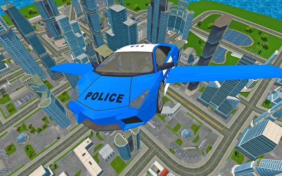 Futuristic Police Flying Car Sim 3D screenshot 21