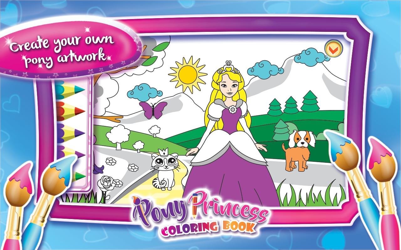 Buku Mewarnai Putri Kuda Poni apk screenshot