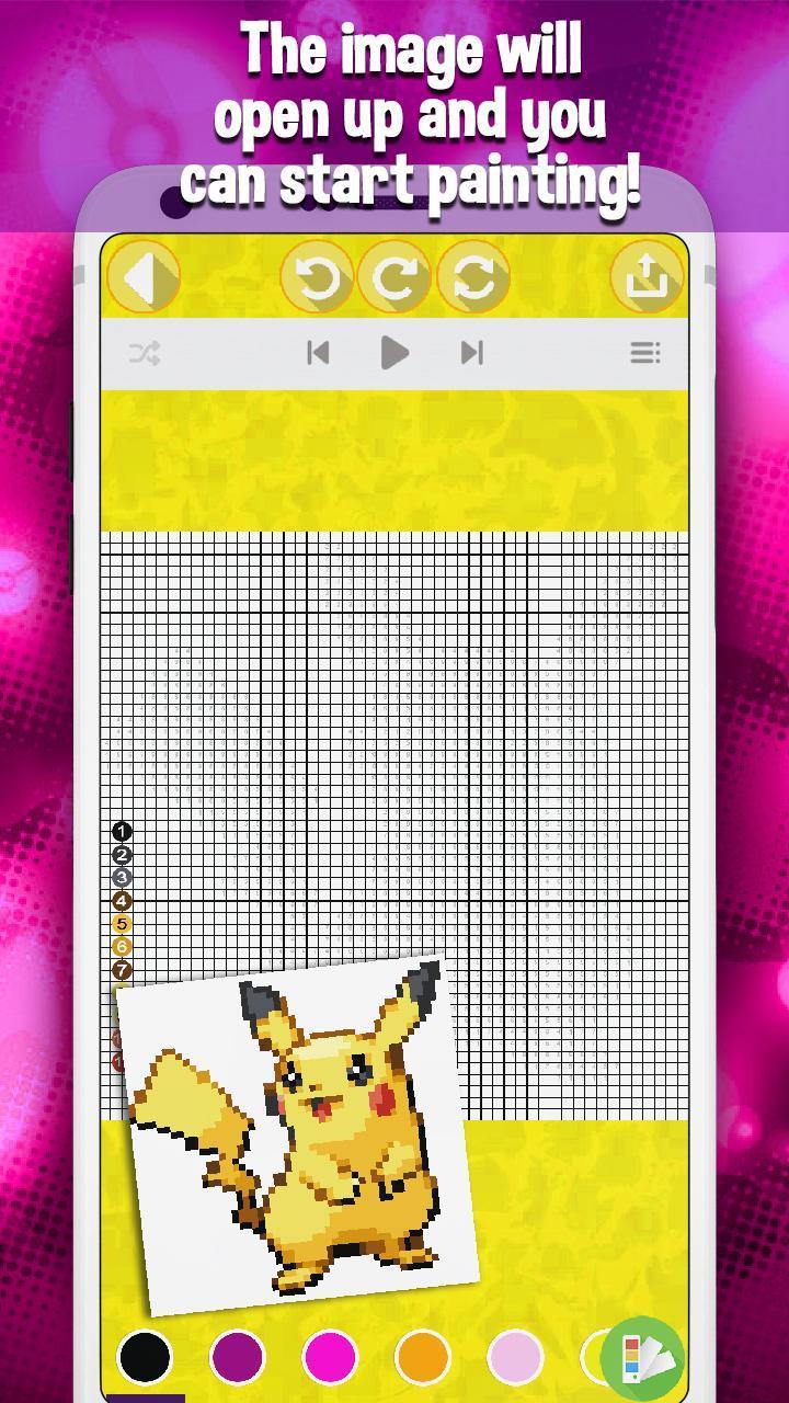 Pixel Art Malen Nach Zahlen Pokemon Für Android Apk