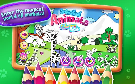 Animated Animals Coloring Book poster