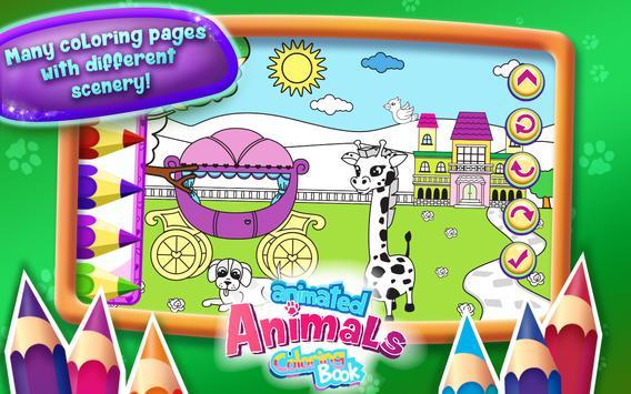 Animated Animals Coloring Book apk screenshot