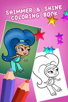 Coloring Game For Shine Poster Apk Screenshot