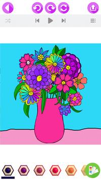 Flower Coloring Book with Relaxing Music ♪ screenshot 1