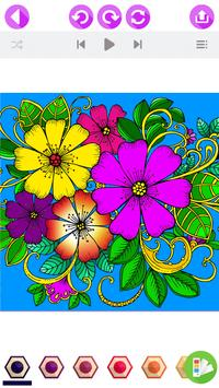 Flower Coloring Book with Relaxing Music ♪ screenshot 2