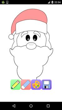 Christmas coloring pages game free poster