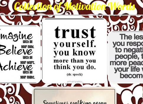 Collection of Motivation Words poster