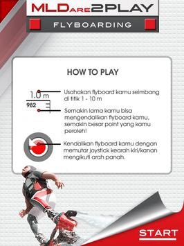 MLDARE2PLAY Flyboarding poster