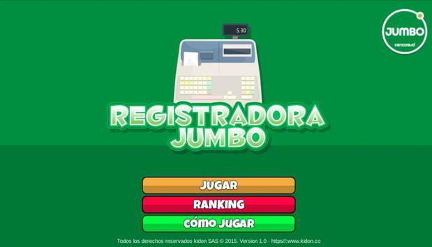 REGISTRADORA JUMBO poster