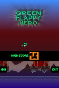 Green Flappy Hero poster