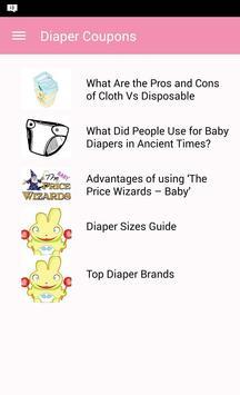 Diaper Coupons apk screenshot
