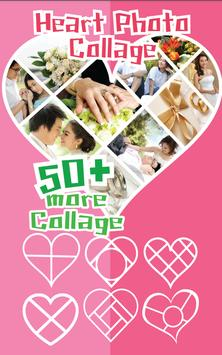 Heart Photo Collage poster