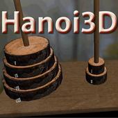 Hanoi Tower 3D Puzzle icon