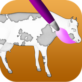 cow coloring games icon
