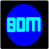 Simple count down boom text icon
