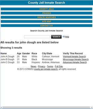 County Jail Inmate Search Original apk screenshot