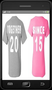 Couple Shirt Design (Best) poster