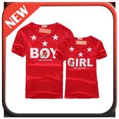 Couple Shirt Design icon