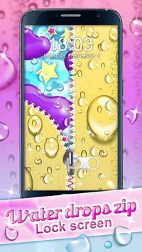 Water Drops Zip Lock Screen screenshot 1