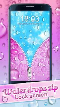 Water Drops Zip Lock Screen screenshot 2