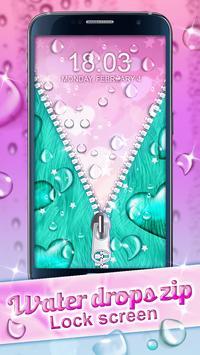 Water Drops Zip Lock Screen screenshot 3