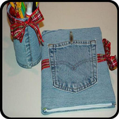 crafts from second hand jeans icon