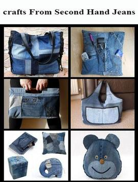 crafts from second hand jeans poster