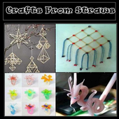 Crafts from straws icon