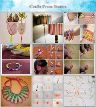 Crafts from straws poster