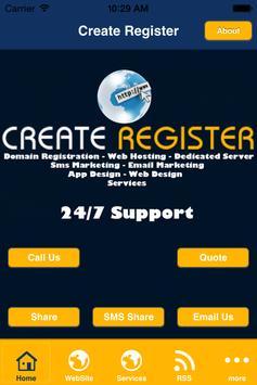 Create Register poster